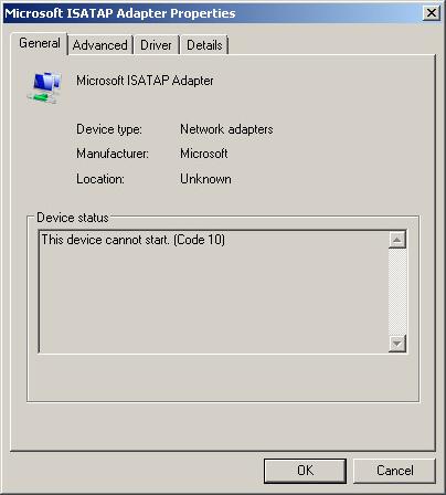 MICROSOFT ISATAP 2 WINDOWS XP DRIVER