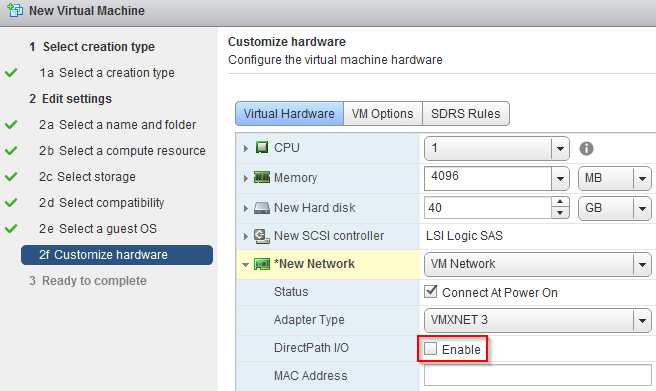 vSphere 6 x: VMXNET3 and DirectPath I/O issue – LIFE IN A