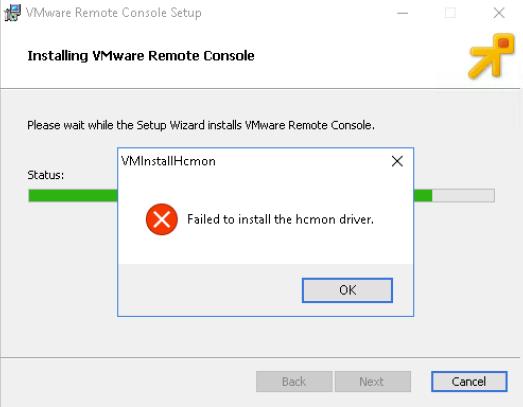 vmware-vmrc-error