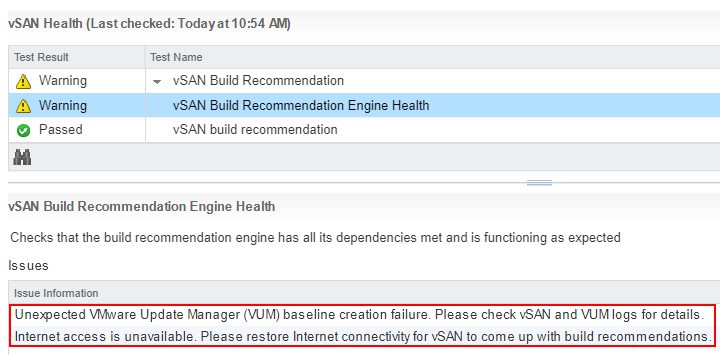 vSAN Health Engine Issue - 01