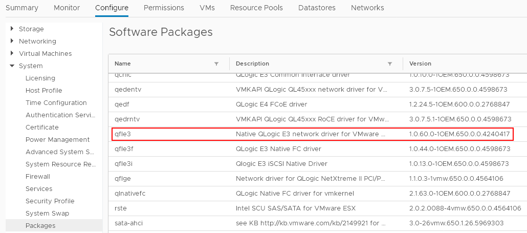 vSphere 6 5: Switching to Native Drivers in ESXi 6 5 – LIFE