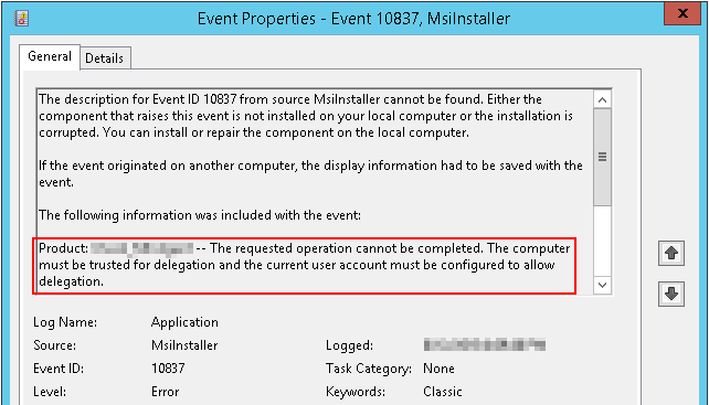 Windows Installer: MSI installation fails with the error